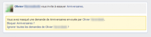 Bloquer une application Facebook