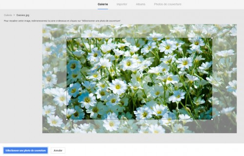 Google+ - Recadrer la photo
