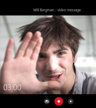 Skype video message