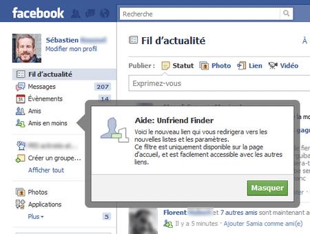 Savoir qui vous supprime de ses amis Facebook avec Unfriend Finder