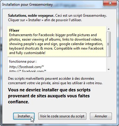 Améliorer Facebook dans Firefox ou Chrome avec FFixer