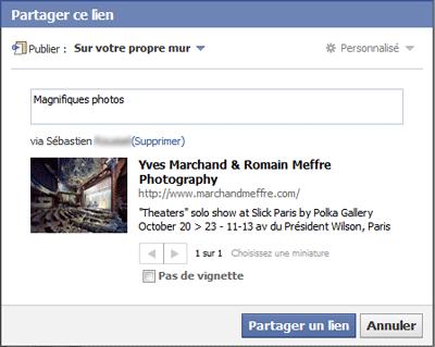 Partager le lien ou la vidéo d'un ami sur Facebook - Aussitot.fr