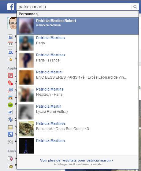 Rechercher des amis sur facebook for Recherche personne pour tondre pelouse