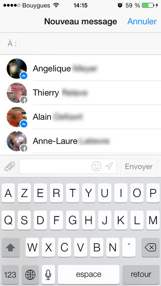 how to search messages in messenger mobile