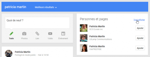 Personnes et contacts