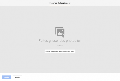 Importer des photos