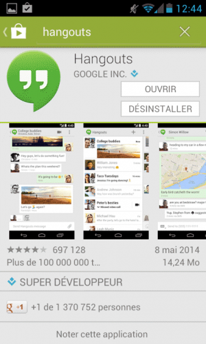 Hangouts - Android